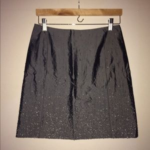 Never Worn! GAP Beaded Mini Skirt Gun Metal Gray